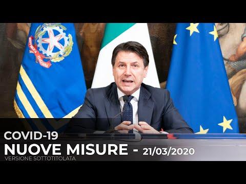 Dichiarazioni del Presidente Conte - 21/03/2020
