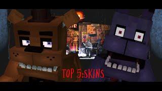 top 5 minecraft skins FNAF con nombres