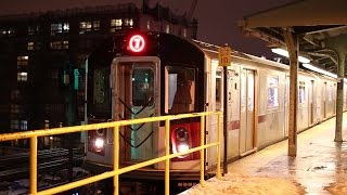 preview picture of video 'New York City Subway: IRT Flushing Line at Night'