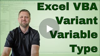 What is the Excel VBA (Macro) Variant Variable Type?