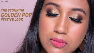 Golden Pop Smokey Eyes For The Festive Season | Glitter Makeup Look