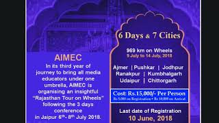 3rd AIMEC2018 'Rajasthan Tour on Wheels' @AIMEC18wheels