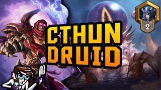C'thun Druid at Rank 2 | Kobolds & Catacombs | Hearthstone