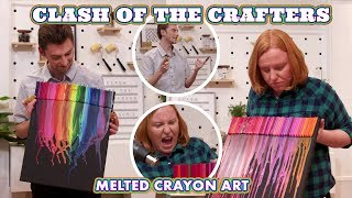 Amateur Crafters Attempt Pinterests Melted Crayon Art - Clash Of The Crafters - HGTV Handmade