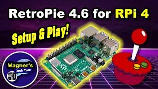 RetroPie 4.6 Install on a Raspberry Pi 4 - Full Pi 4 Setup in 12 minutes - Tutorial + Game-play!