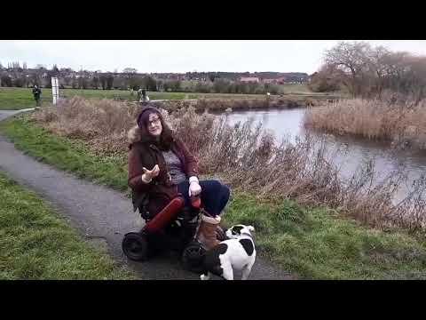 TGA: WHILL Model C - Georgina, accessible travel blogger - vlog 6 - walking the dog (v2) YouTube video thumbnail