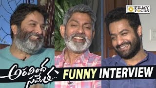 Aravinda Sametha Movie Team Interview about Success | NTR, Jagapathi Babu, Trivikram, Pooja Hegde