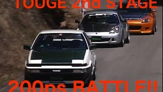 TOUGE BATTLE 2nd STAGE. CLASS-200ps BATTLE【Best MOTORing】