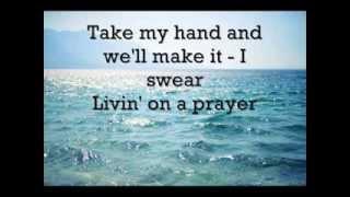 Bon Jovi - Livin' on a prayer (LYRICS)