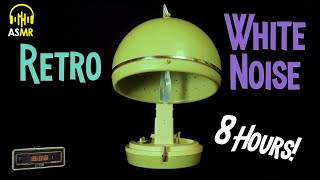 🔊White Noise Therapy   1960s Bonnet HAIR DRYER 8 Hours! ASMR   Relax🌎 Sleep 💤 Concentrate💡