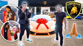 SURPRISING MY SISTERS BOYFRIEND WITH A 2021 LAMBORGHINI FOR BEING LOYAL TO HER! *Emotional*