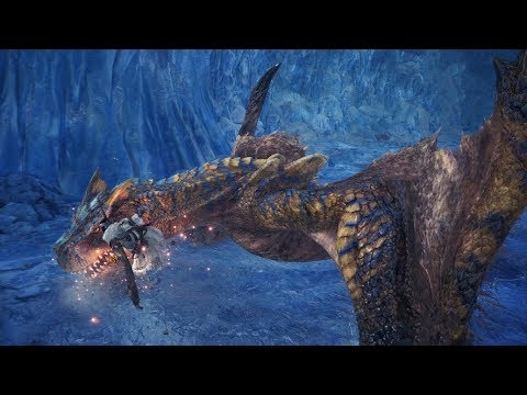 Monster Hunter World: Iceborne Beta - Tigrex Boss Fight (Solo / Longsword)