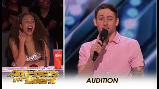 Samual Comroe: HILARIOUS 'Twitchy' Comedian With Tourette Syndrome   America's Got Talent 2018