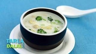 Thai Style Coconut Cream Soup By Tarla Dalal