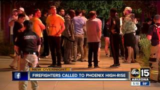 Police, firefighters rush to high-rise after fire scare