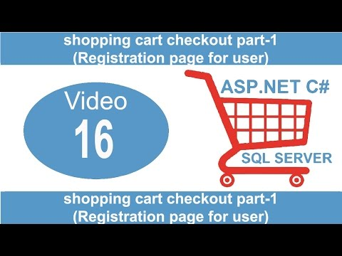 shopping cart checkout part-1