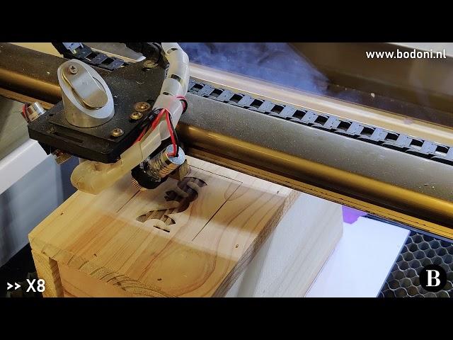Lasergravure in houten vogelhuisjes! 🐦🏠