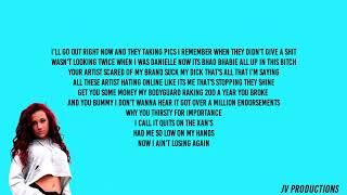 5f94920d825523 Bhad Bhabie - Roll in Peace Remix Lyrics