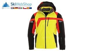 Spyder, Titan, ski-jas, heren, acid geel/zwart/volcano rood
