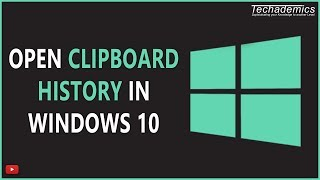 How To Open The Clipboard in Windows 10 | Copy And Paste History Windows 10