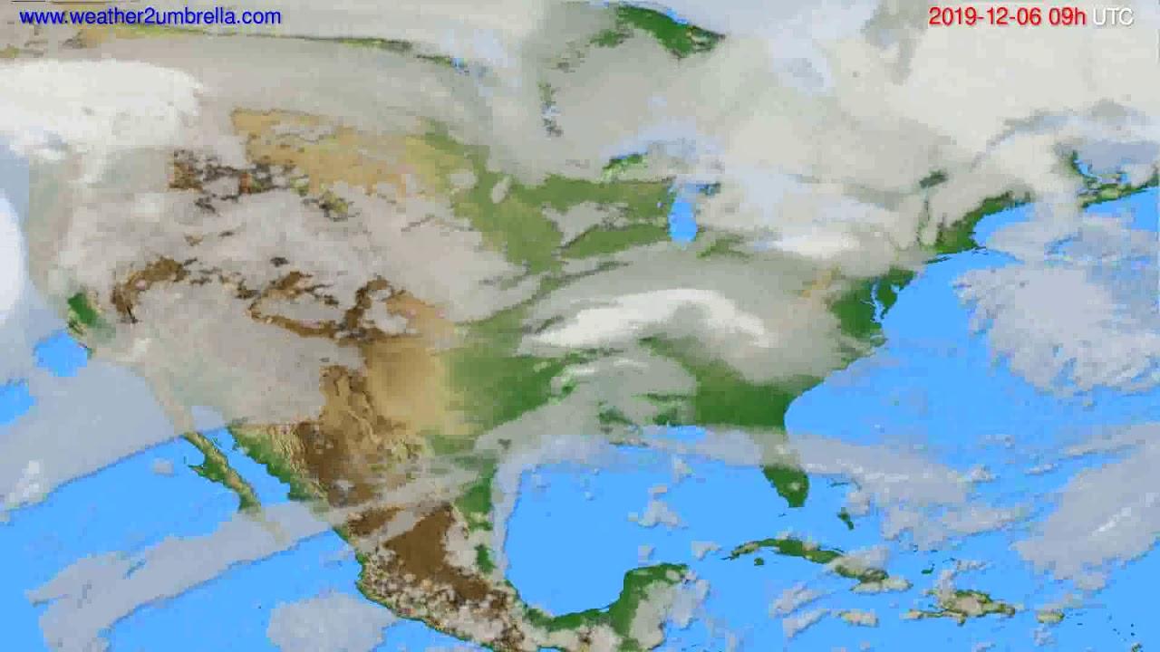 Cloud forecast USA & Canada // modelrun: 12h UTC 2019-12-04