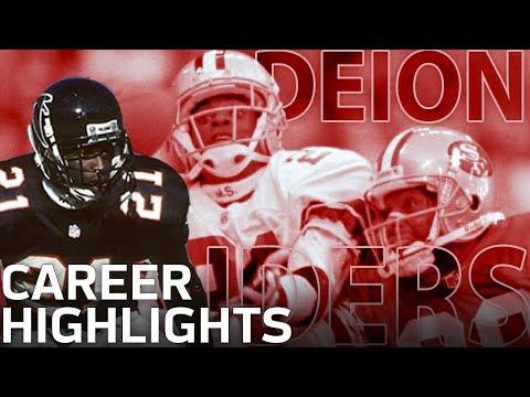 Deion Sanders Primetime Career Highlights   NFL Legends