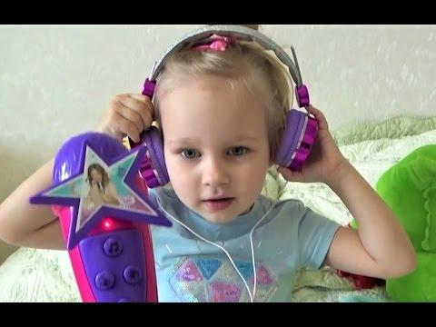 Детский МИКРОФОН и наушники для детей ! Какую песню любите вы?