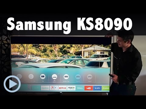 Samsung KS8090 4K UHD TV Kurzvorstellung UE 48 55 65 75KS8090 LED Smart TV Test