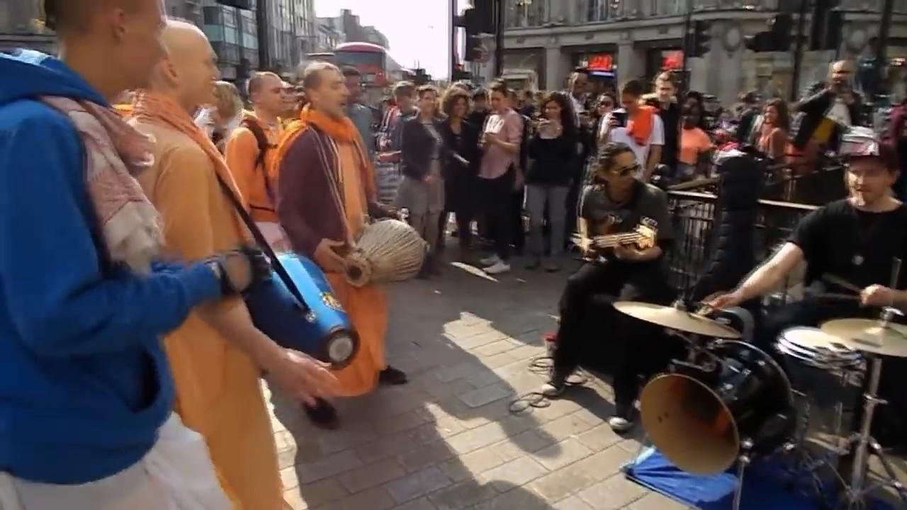 Street Jam with Hare Krishna