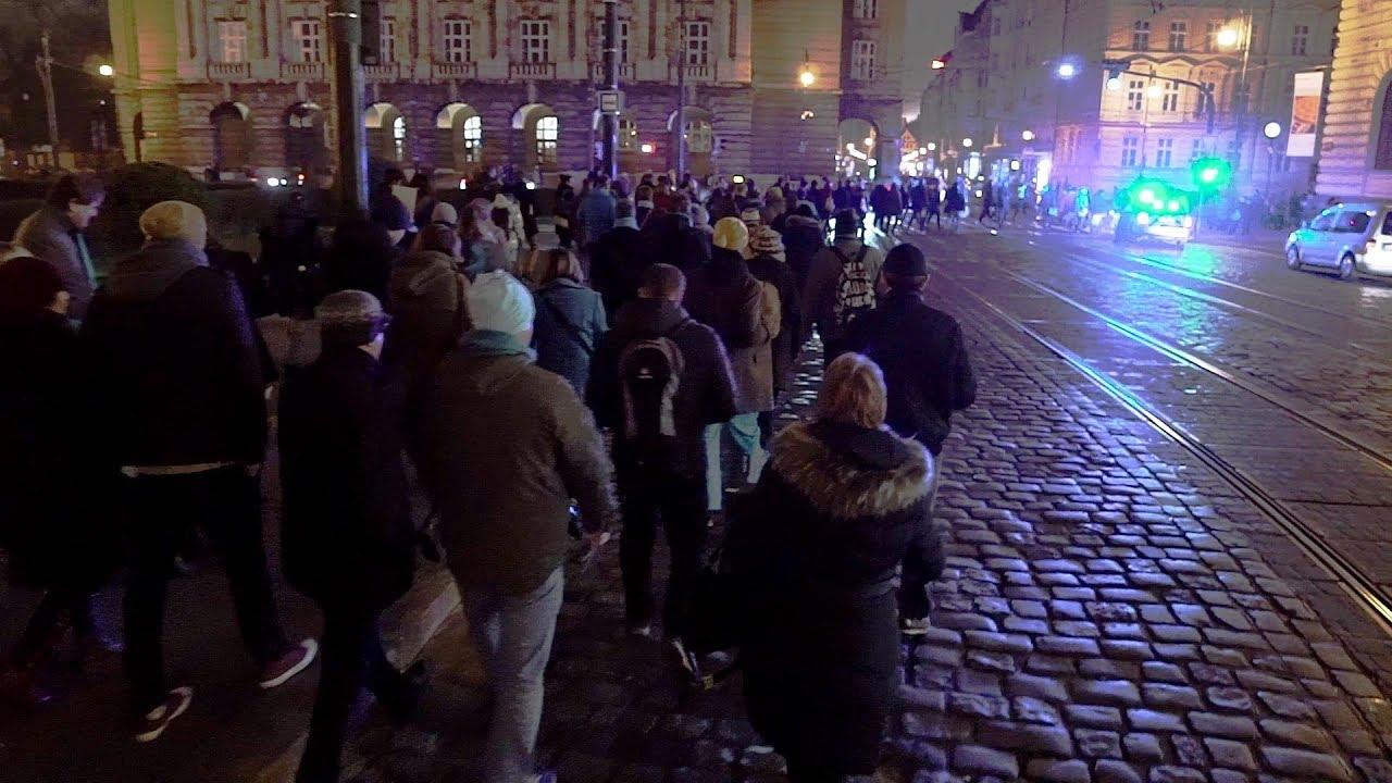 Tyrkysová revoluce v Praze na Národní třídě 10. ledna 2018