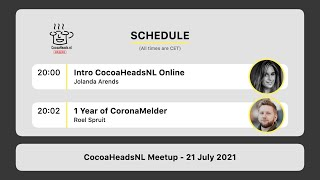 CocoaHeadsNL Online Meetup, 21 July 2021