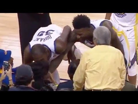 Kevin Durant KISSES Woman After She Gets Hit in the Face by a Bad Pass