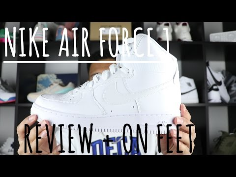 Nike Air Force 1 Hi WHITE 07 Review + ON FEET