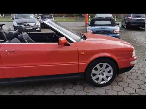 الفيديو Audi Cabriolet 1.8 Klima , el. Verdeck.Fzg.in Ordnung.