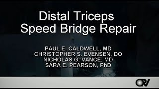 Distal Triceps Speed Bridge Repair
