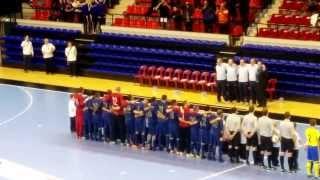preview picture of video 'France - Suède Futsal à Besançon - La Marseillaise'