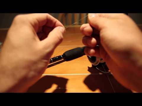 comment monter fil de peche sur moulinet