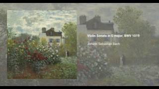 Violin Sonata in G major, BWV 1019