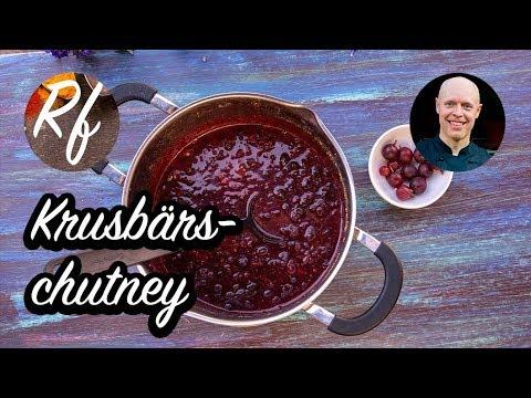 Koka en smakrik krusbärschutney med syrliga krusbär, socker, lök, chili, vinäger och indiska kryddor.>