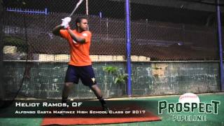 Heliot Ramos Prospect Video, OF, Alfonso Casta Martinez High School Class of 2017, Cage Work