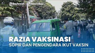 Gelar Razia Vaksinasi, Polresta Bogor Kota Ajak Sopir Angkot dan Pengendara untuk Ikut Vaksin Covid