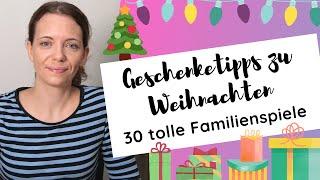 Brettspiele Geschenketipps zu Weihnachten 2020 - 30 tolle Familienspiele