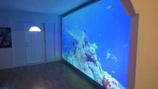 """MY MONSTER BORDERLESS PROJECTION SCREEN 180"""" 16:9 IMMERSE 4K CINEMA 90% DONE!"""