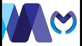Alphabetical Logo Design M