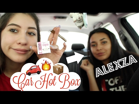 HOTBOXING AND EATING EDIBLES WITH ALEXZA // Car Sesh