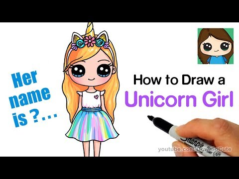 How To Draw A Unicorn Cute Girl Easy تنزيل يوتيوب