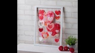 Canvas Project: Framed Heart Art