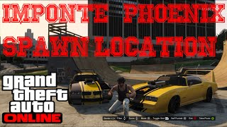"★GTA 5 Online - How To Get RARE ""IMPONTE PHOENIX"" +Spawn Location! (GTA 5 Rare Cars)"