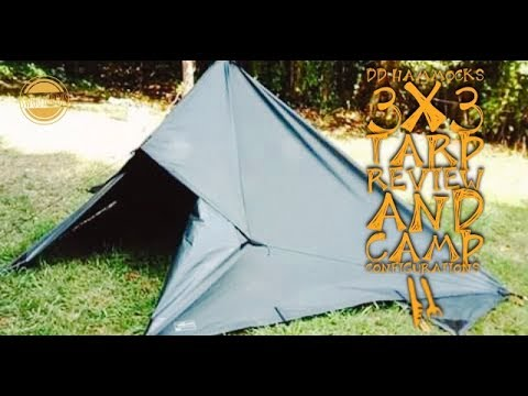 DD Hammocks 3x3 Tarp Review and Camp Configurations