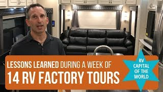 LESSONS LEARNED FROM 14 RV FACTORY TOURS IN A WEEK AT THE RV CAPITAL OF THE WORLD, ELKHART, INDIANA